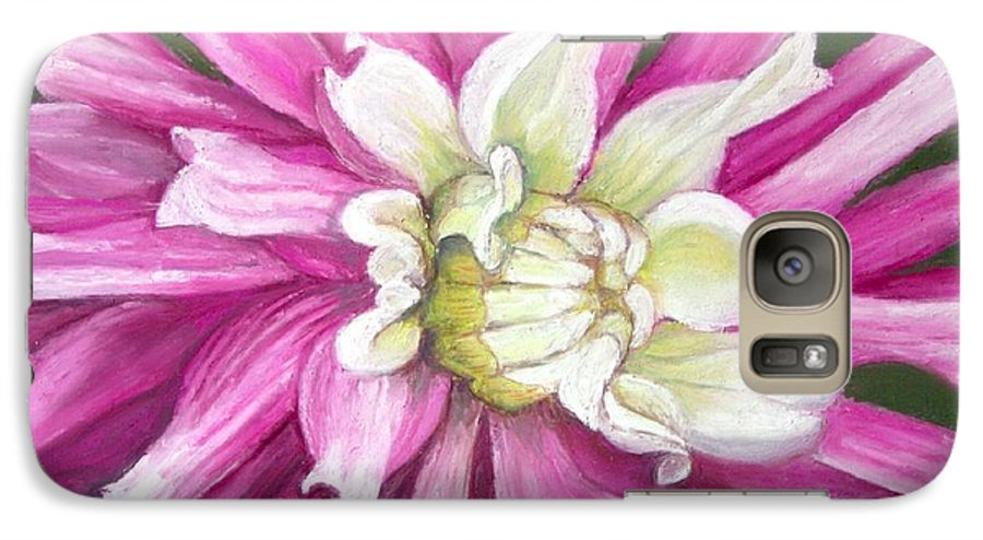 Floral Galaxy S7 Case featuring the painting Pink Petal Blast by Minaz Jantz