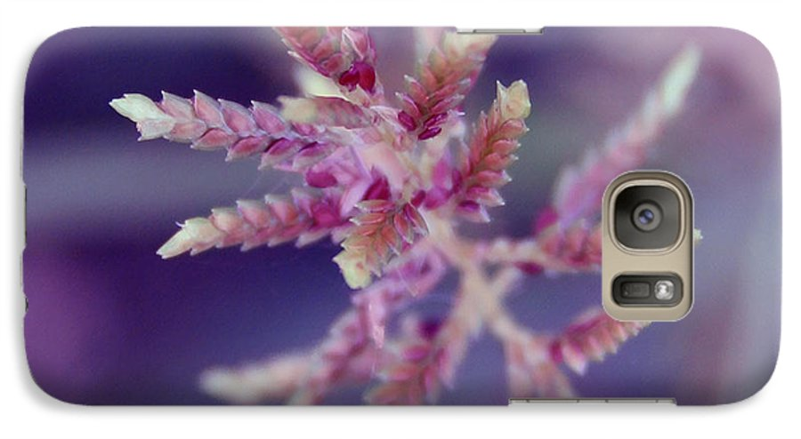 Nature Galaxy S7 Case featuring the photograph Pink Weed by Linda Sannuti