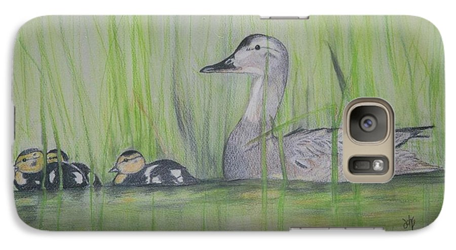 Pintail Ducks Galaxy S7 Case featuring the painting Pintails In The Reeds by Debra Sandstrom