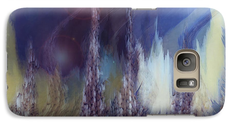 Abstract Galaxy S7 Case featuring the digital art Pixel Dream by Linda Sannuti