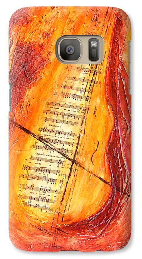 Music Galaxy S7 Case featuring the painting Poesial Visual by Ivan Guaderrama