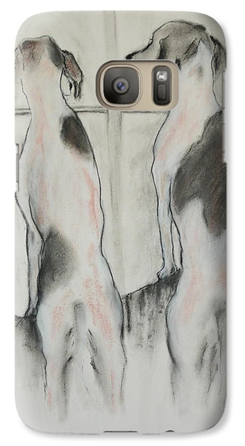 Pastel Galaxy S7 Case featuring the drawing Point Of View by Cori Solomon