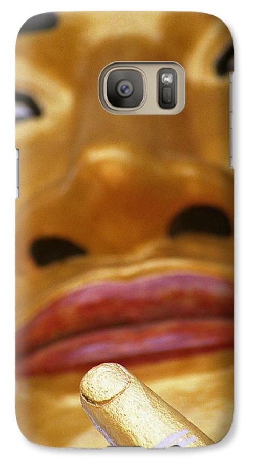 Buddha Galaxy S7 Case featuring the photograph Pointing Buddha by Patrick Klauss