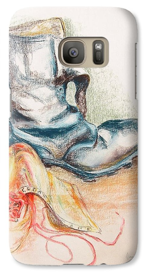 Still Life Galaxy S7 Case featuring the drawing Pompes by Muriel Dolemieux