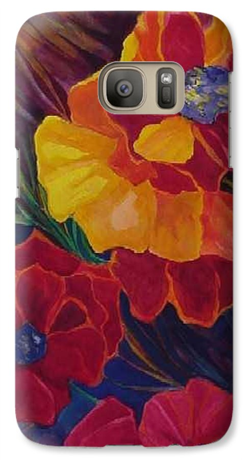 Flowers Galaxy S7 Case featuring the painting Poppies by Carolyn LeGrand