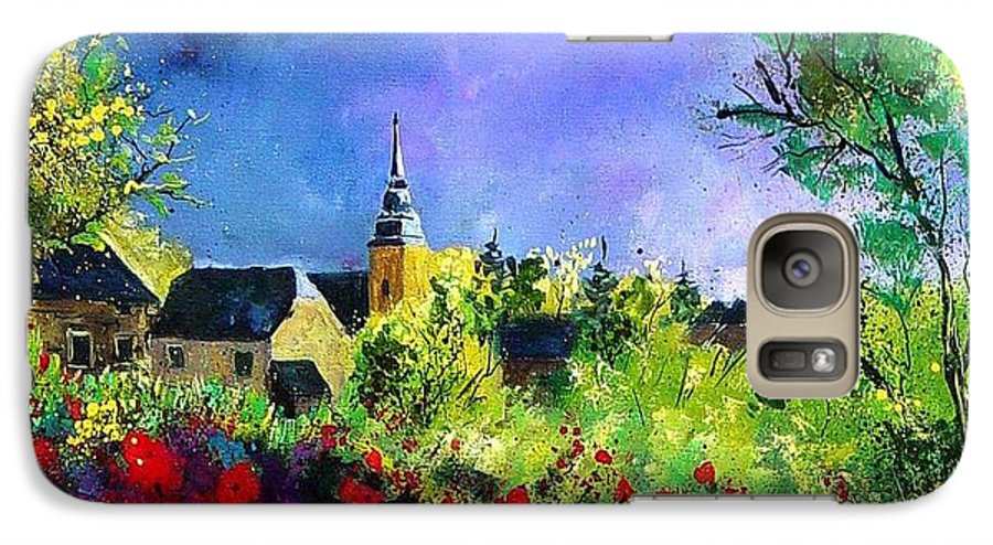 Flowers Galaxy S7 Case featuring the painting Poppies In Villers by Pol Ledent
