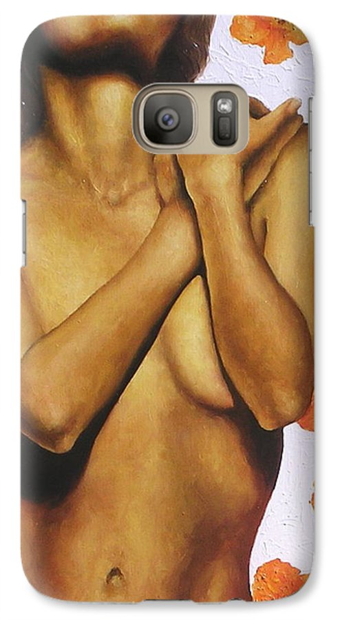 Nude Galaxy S7 Case featuring the painting Poppy Love 2 by Trisha Lambi
