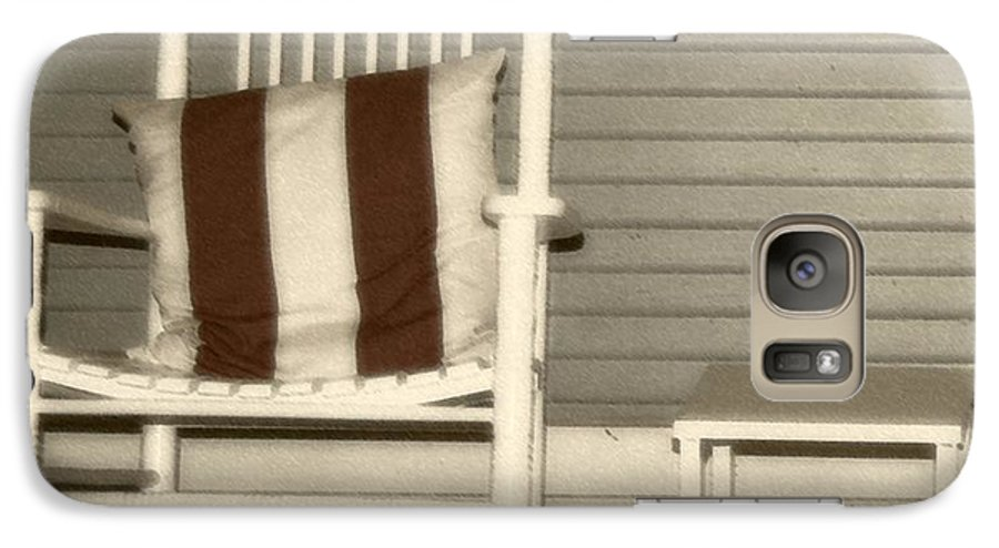 Rocking Chair Galaxy S7 Case featuring the photograph Porch Rocker by Debbi Granruth