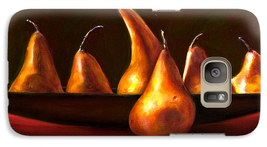 Still Life Galaxy S7 Case featuring the painting Port Au Pear by Shannon Grissom