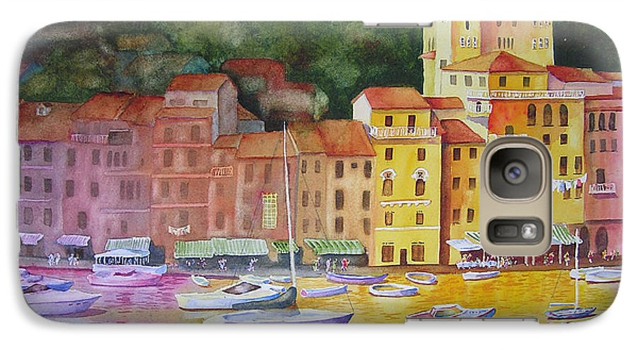 Italy Galaxy S7 Case featuring the painting Portofino Afternoon by Karen Stark