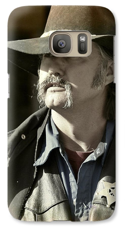 Portrait Galaxy S7 Case featuring the photograph Portrait Of A Bygone Time Sheriff by Christine Till