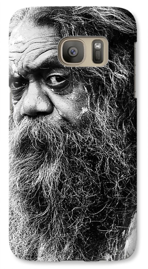 Aborigine Aboriginal Australian Galaxy S7 Case featuring the photograph Portrait Of An Australian Aborigine by Sheila Smart Fine Art Photography