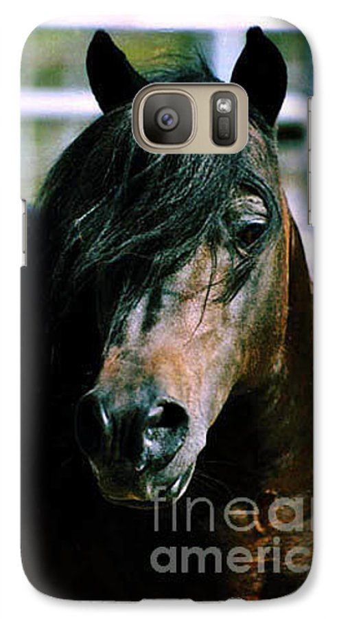 Horse Galaxy S7 Case featuring the photograph Portrait Of His Majesty - The King by Kathy McClure