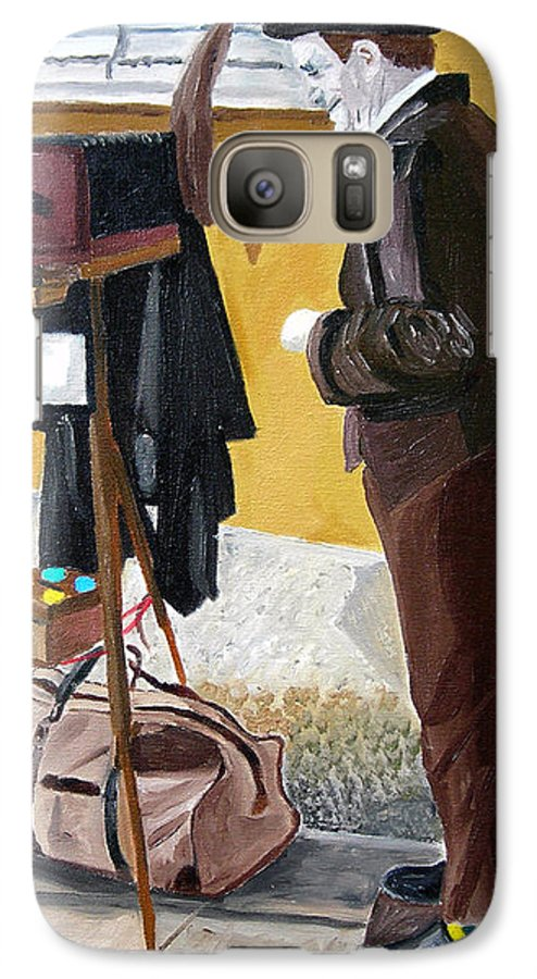 Mime Galaxy S7 Case featuring the painting Portrait Of Identity by Michael Lee