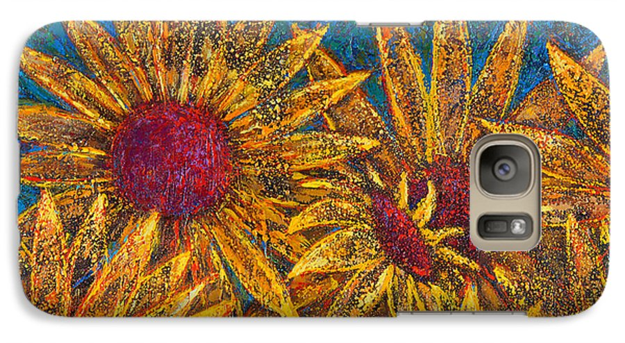 Flowers Galaxy S7 Case featuring the painting Positivity by Oscar Ortiz