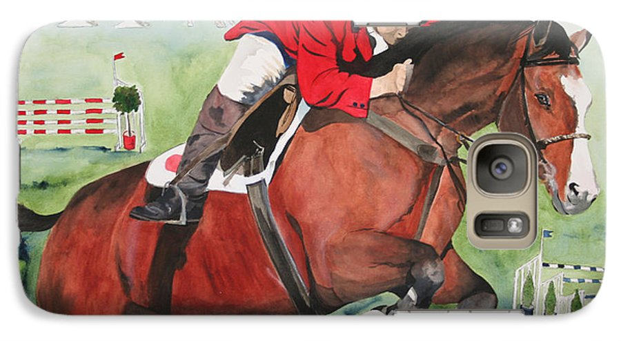 Horse Galaxy S7 Case featuring the painting Practice Makes Perfect by Jean Blackmer