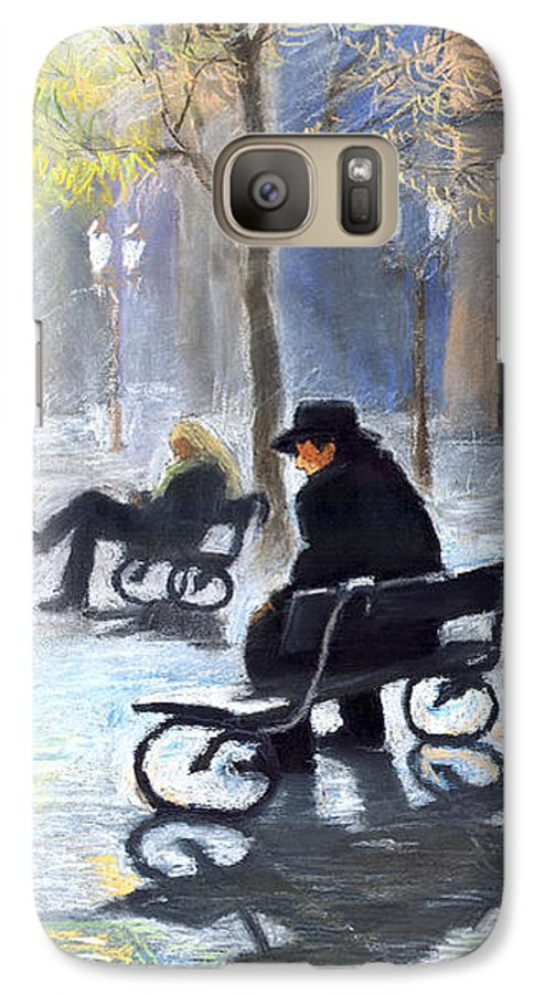 Prague Galaxy S7 Case featuring the painting Prague Autumn Ray by Yuriy Shevchuk