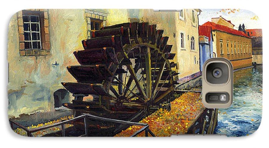 Prague Galaxy S7 Case featuring the painting Prague Chertovka by Yuriy Shevchuk
