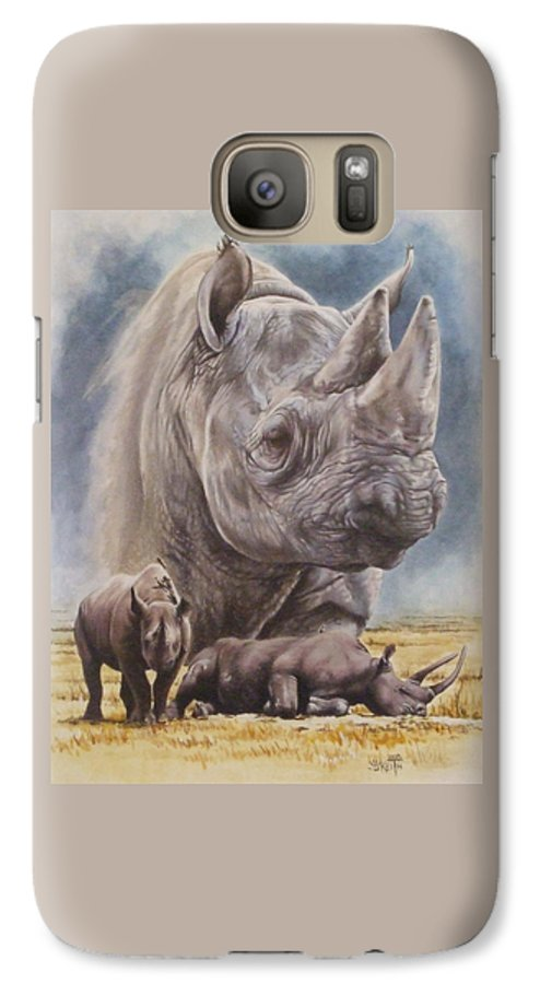 Wildlife Galaxy S7 Case featuring the mixed media Precarious by Barbara Keith