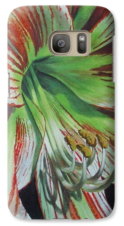 Amaryllis Galaxy S7 Case featuring the painting Precious by Barbara Keith