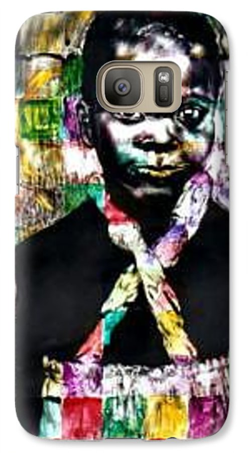 Portrait Galaxy S7 Case featuring the mixed media Precious by Chester Elmore