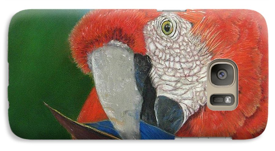 Bird Galaxy S7 Case featuring the painting Presumida by Ceci Watson