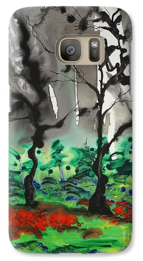 Forest Galaxy S7 Case featuring the painting Primary Forest by Nadine Rippelmeyer