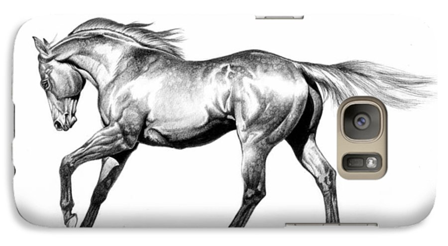 Thoroughbred Galaxy S7 Case featuring the drawing Proud by Howard Dubois