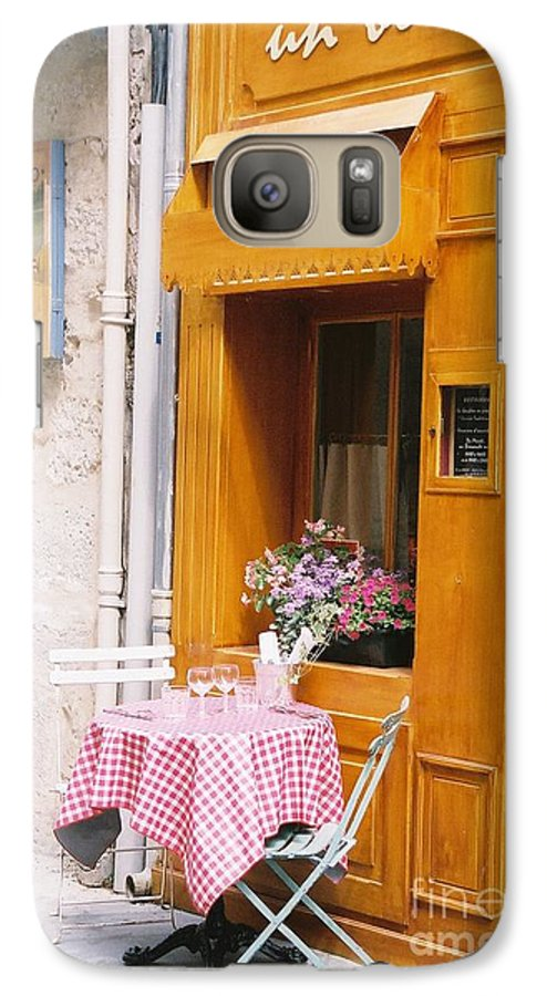 Cafe Galaxy S7 Case featuring the photograph Provence Cafe by Nadine Rippelmeyer