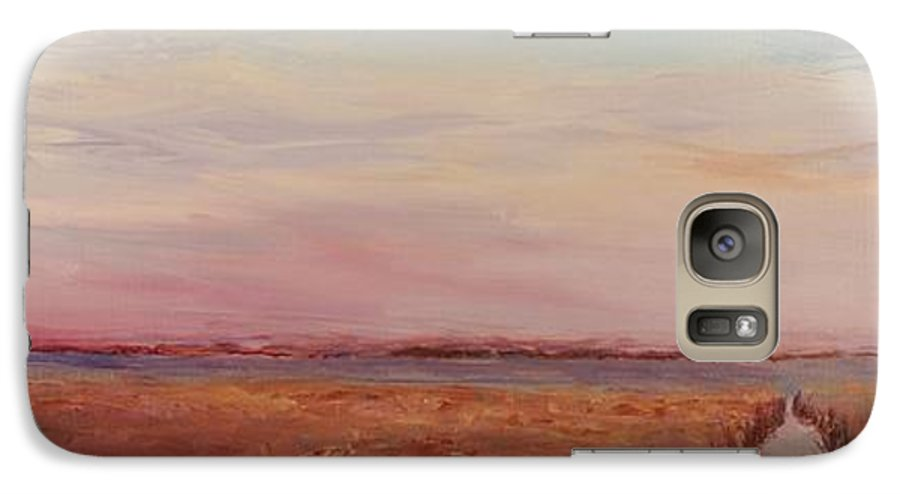 Landscape Galaxy S7 Case featuring the painting Provence Camargue by Nadine Rippelmeyer