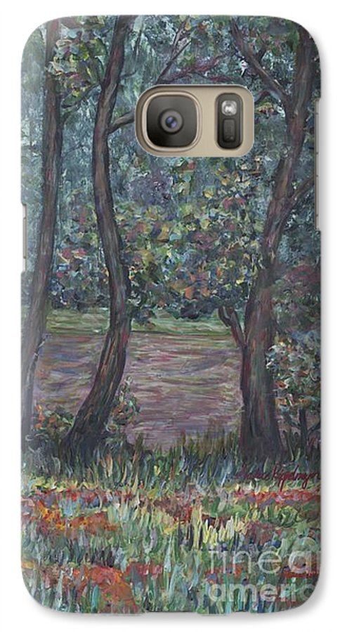 Landscape Galaxy S7 Case featuring the painting Provence Flowers by Nadine Rippelmeyer