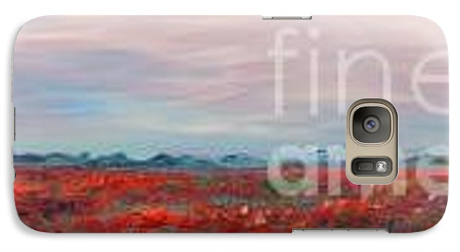 Poppies Galaxy S7 Case featuring the painting Provence Poppies by Nadine Rippelmeyer