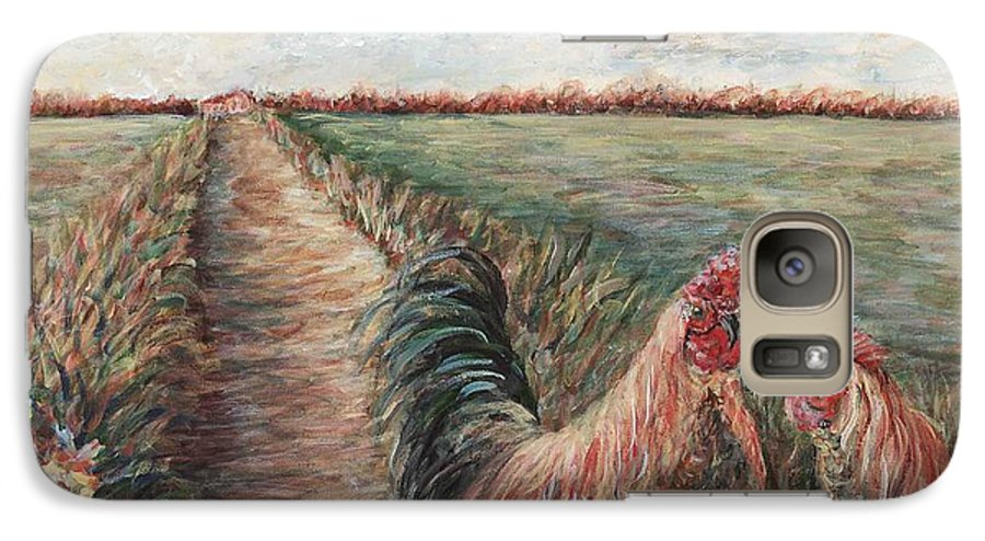 Provence Galaxy S7 Case featuring the painting Provence Roosters by Nadine Rippelmeyer