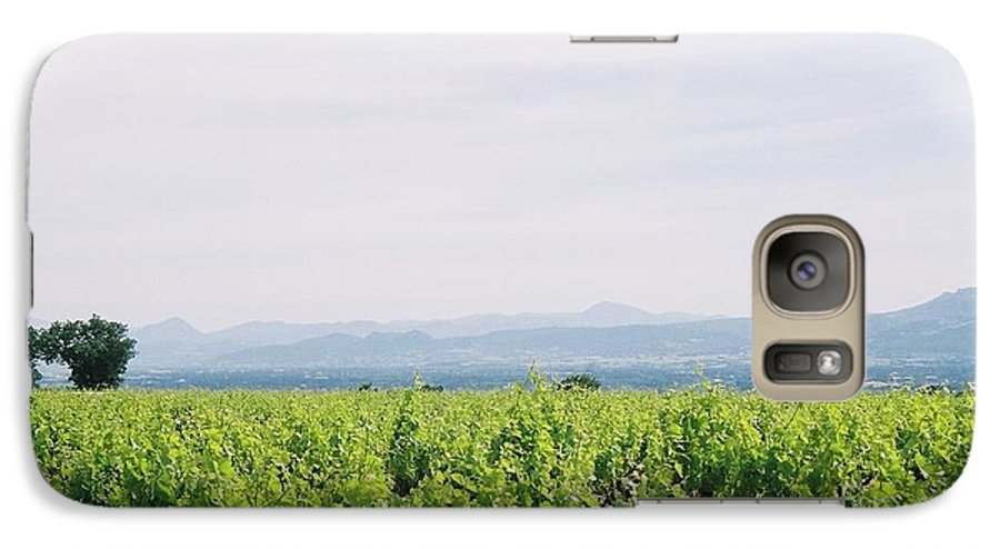 France Galaxy S7 Case featuring the photograph Provence Spring Vineyard by Nadine Rippelmeyer