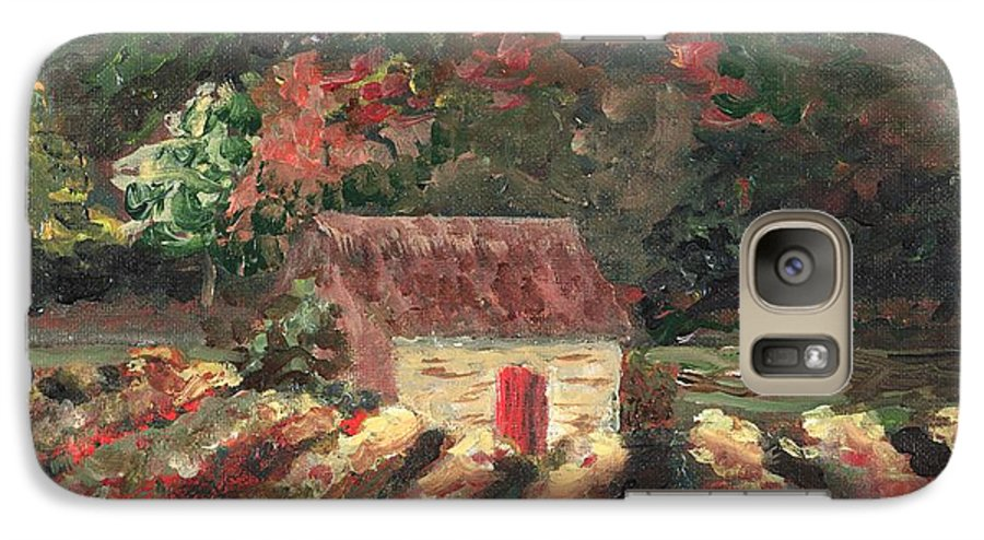 Landscape Galaxy S7 Case featuring the painting Provence Vineyard by Nadine Rippelmeyer