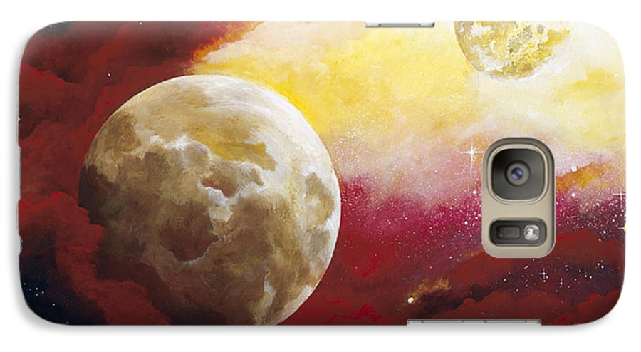 Space Galaxy S7 Case featuring the painting Psalm by Laura Swink