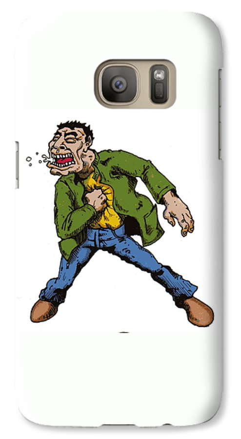 Illustration Galaxy S7 Case featuring the drawing Punch by Tobey Anderson