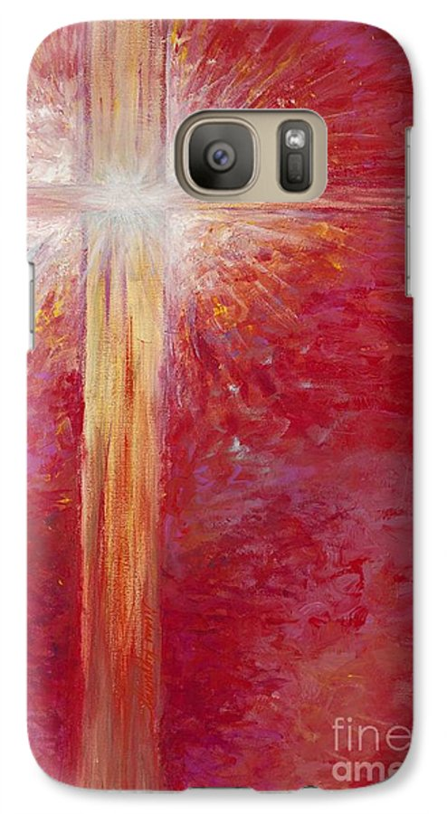 Light Galaxy S7 Case featuring the painting Pure Light by Nadine Rippelmeyer