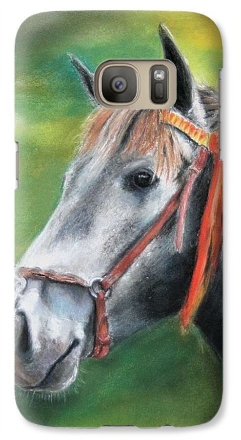 Horse Galaxy S7 Case featuring the painting Pure Spanish by Ceci Watson