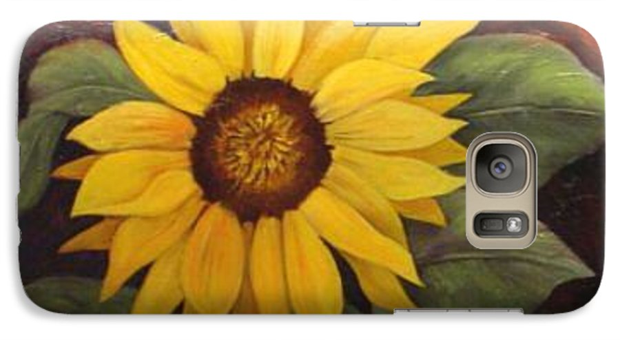 Still Life Galaxy S7 Case featuring the painting Pure Sunshine Sold by Susan Dehlinger