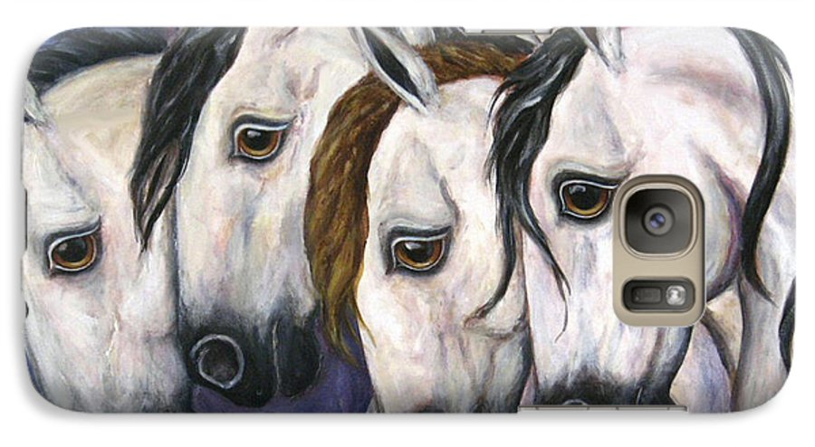 Horse Painting Galaxy S7 Case featuring the painting Purple Haze by Frances Gillotti