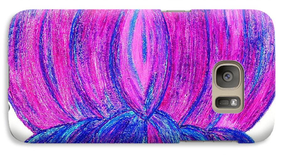 Purple Lotus Galaxy S7 Case featuring the pastel Purple Lotus by Chandelle Hazen