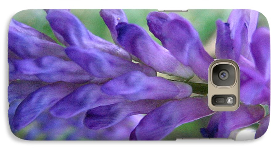 Flower Galaxy S7 Case featuring the photograph Purple Wildflower by Melissa Parks