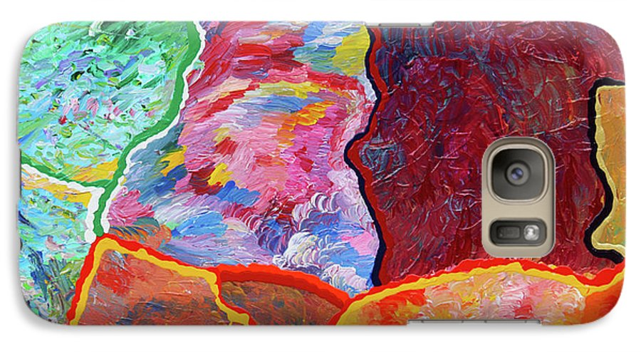 Fusionart Galaxy S7 Case featuring the painting Puzzle by Ralph White