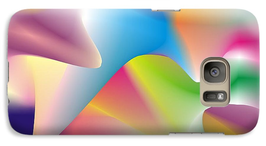 Abstract Galaxy S7 Case featuring the digital art Quantum Landscape 2 by Walter Oliver Neal