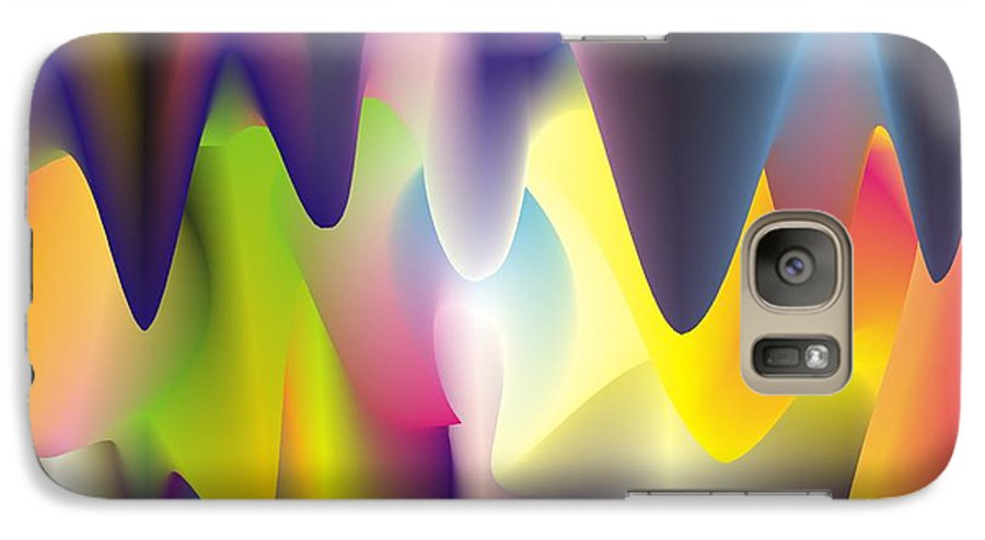 Abstract Galaxy S7 Case featuring the digital art Quantum Landscape 6 by Walter Oliver Neal