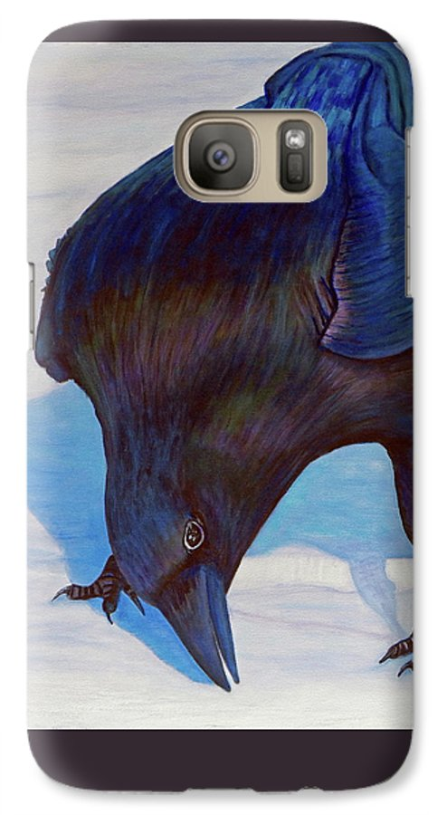 Raven Galaxy S7 Case featuring the painting Que Pasa by Brian Commerford