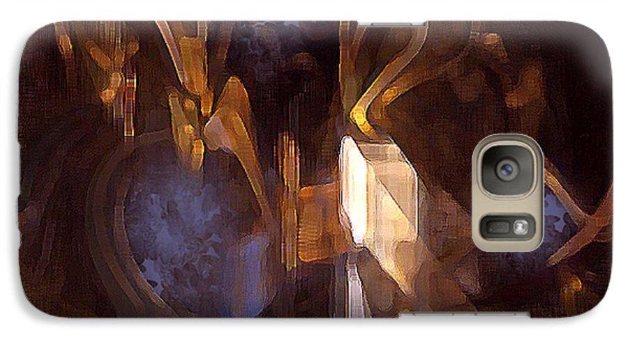 Digital Galaxy S7 Case featuring the digital art Quest by Ann Tracy
