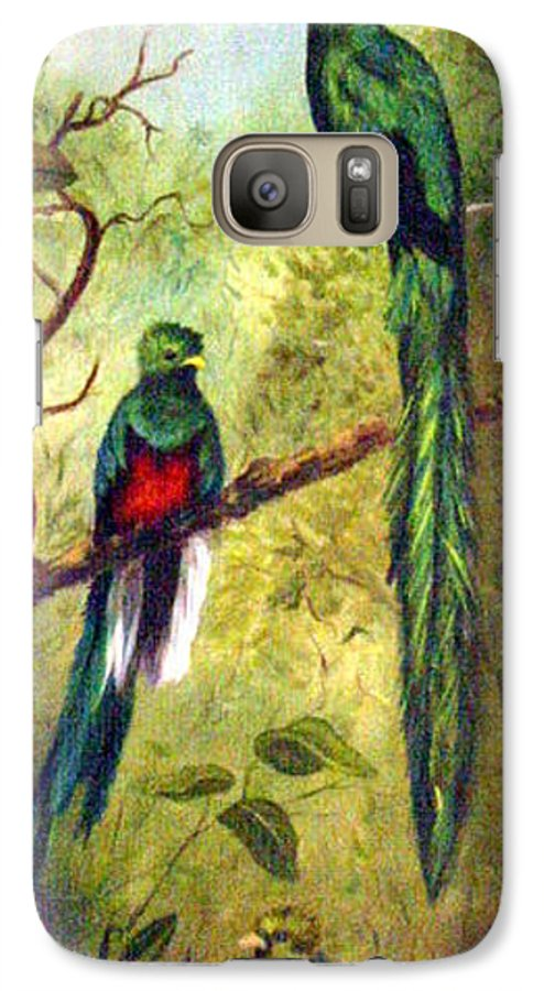 Landscape Galaxy S7 Case featuring the painting Quetzels by Anne Kushnick