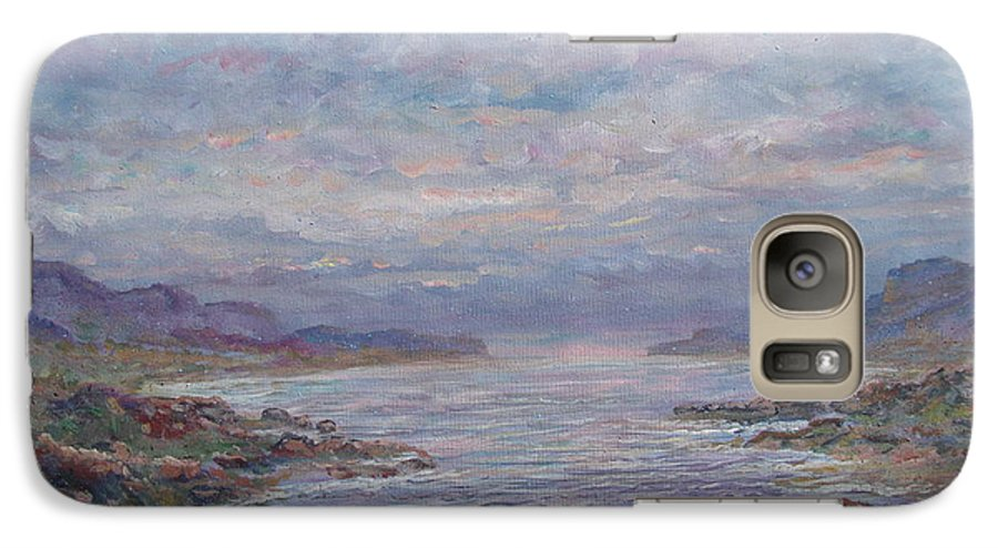 Painting Galaxy S7 Case featuring the painting Quiet Bay. by Leonard Holland